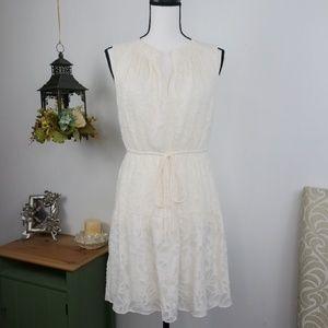 LOFT Sleeveless Dress Blouson Style Fully Lined XS